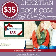 Giveaway for a Christian Book (dot) com gift card in the amount of $35