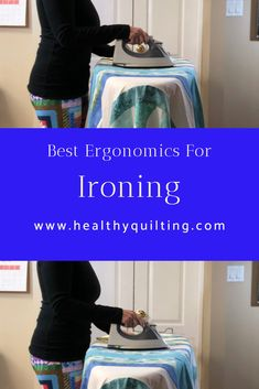Most ergonomic height for ironing board Long Arm Quilting Machine, Quilting Thread, Quilting Fabric, Ironing Station, Sewing Studio, Sewing Clothes, Dressmaking, Quilts, Patterns