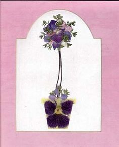 pressed flower topiary - won ribbons for my work