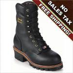 """Chippewa Boots 9"""" Black Super Logger"""