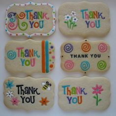 Thank You Cookies - For all your cake decorating supplies, please visit craftcomapny.co.uk