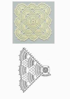Letras e Artes da Lalá: Square: quadradinho de crochê