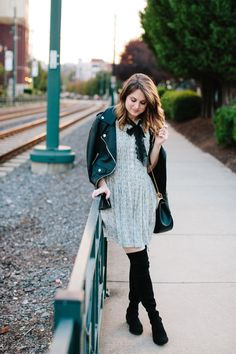How to Transition your Shirtdress into Fall // www.polishedclosets.com