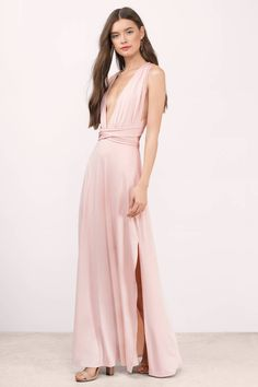 "Search ""Kylen Black Maxi Dress"" on Tobi.com! peach pink coral wedding split slit deep v wrap bridesmaid wedding column low back simple minimal bridesmaids cute sweet timeless classy cheap affordable save money for women dresses guest stylish fashionable elegant modest maxi midi mini long"