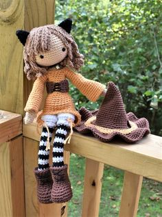 Jinx the Cat Crochet Doll Pattern / Amigurumi / Photo Tutorial