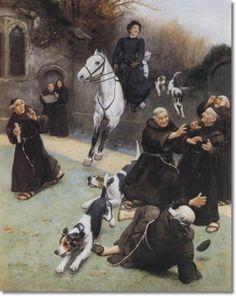 Arthur John Elsley - A Welcome Interruption Painting