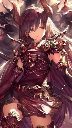Anime girl warrior art Forte Rage of Bahamut 7201280 wallpaper Cool Anime Girl, Kawaii Anime Girl, Anime Art Girl, Anime Girls, Beautiful Anime Girl, Anime Devil, Anime Angel, Chica Anime Manga, Manga Girl