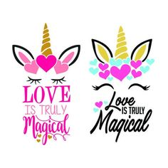 Love is truly magical Unicorn Hearts Valentines Day Cuttable Design SVG PNG DXF & eps Designs Cameo Unicorn Painting, Unicorn Drawing, Unicorn Art, Magical Unicorn, Unicorn Quotes, Unicorn Images, Embroidery Designs, Embroidery Fonts, Unicorn Valentine