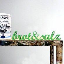 brot & salz fontlove 3D-TYPO by NOGALLERY
