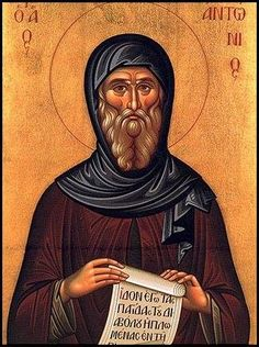 Saint Anthony the Great Orthodox Church of the Orthodox Church in America located in San Antonio, Texas Religious People, Religious Icons, Religious Art, Saint Antonio, Anthony The Great, Liturgy Of The Hours, Religion, Catholic Saints, Orthodox Icons