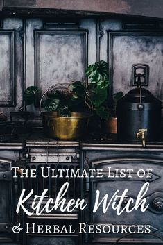 The Ultimate List of Kitchen Witch & Herbal Resources - The Witch of Lupine Hollow A massive roundup of web and print resources for kitchen witches and herbalists. Herbal Witch, Witch Herbs, Herbal Magic, Green Witchcraft, Wiccan Spells, Magick, Magic Spells, Wiccan Witch, Wiccan Magic