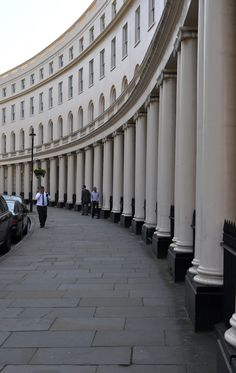 Georgian architecture in London.  Park Crescent West, or possibly East . Heading Resi