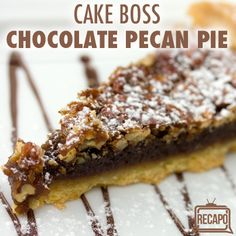 Let the delicious pecans rise to the top with Buddy Valastro's Chocolate Pecan Pie Recipe, which he shared with Rachael Ray, because she can't bake!