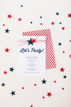 Star Party Invitation Embellishments by The TomKat Studio. Make It Now in Cricut Design Space