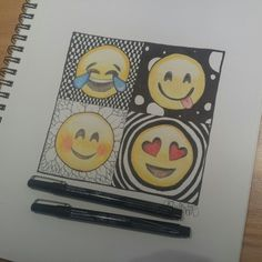 Make Your Art Successful – Create A Story With Your Drawing And Painting – Interesting Decor Amazing Drawings, Cute Drawings, Amazing Art, Emoji Drawings, Little Doodles, Beautiful Artwork, Doodle Art, Cute Art, Art Projects