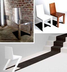 shadow casting chair illusion