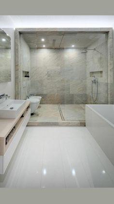 Washroom Design, Bathroom Design Luxury, Bathroom Layout, Modern Bathroom Design, Bathroom Ideas, Modern Luxury Bathroom, Luxurious Bathrooms, Minimalist Bathroom Design, Modern Shower