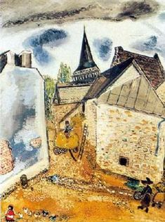 """Church on Lake Chambon"". 1926 Marc Chagall"