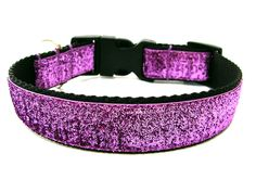 Purple Dog Collar Purple Glitter Dog Collar Matching Bow Available. $18.00, via Etsy.