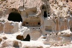 Bandelier Cliff Dwelling Features - Bandelier National Monument - near Los Alamos, NM