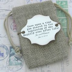 favor bag with cute tag***like the wording