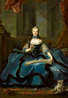 Madame Sophia hija de Luis XV,Pintura de Nattier