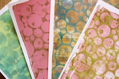 tutorial for Gelli printing with homemade foam plates