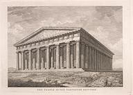 Drawing of a restored temple of the Parthenon - Museum Worsleyanum.