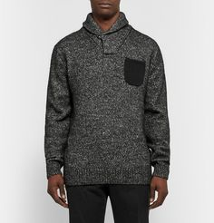 J.CrewNubuck-Trimmed Cotton and Wool-Blend Sweater