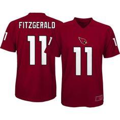 Team Apparel Youth Arizona Larry Fitzgerald #11 Red T-Shirt, Size: Medium