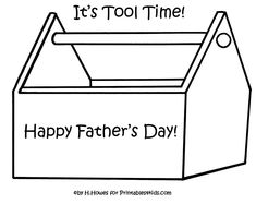 Print and color toolbox for Father's Day gift or card : Printables for Kids – free word search puzzles, coloring pages, and other activities