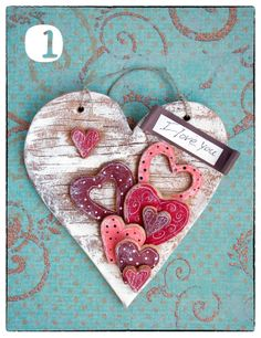 Items similar to Valentine's Day Heart Salt Dough Ornament on Etsy Valentines Day Hearts, Valentine Day Love, Valentine Day Crafts, Valentine Decorations, Wooden Hearts Crafts, Heart Crafts, Salt Dough Crafts, Salt Dough Ornaments, Atelier Theme