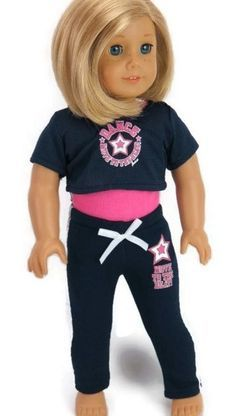 """Move to the Beat Dance Navy Pant Outfit made for 18"""" American Girl Doll Clothes"""