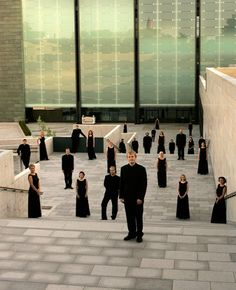 Estonian Philharmonic Chamber Choir - I think it would be great if we could have a shot like this of our chamber choir with Mrs. Coffman in front :)