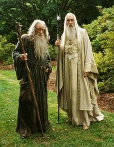 Gandalf the Grey (Ian McKellen) and Saruman the White (Christopher Lee) Lord Of Rings, Fellowship Of The Ring, O Hobbit, The Hobbit Movies, Gandalf, Legolas, J. R. R. Tolkien, Ian Mckellen, The Two Towers