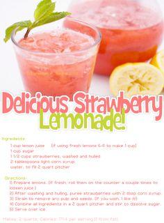 strawberry lemonade! Yum!