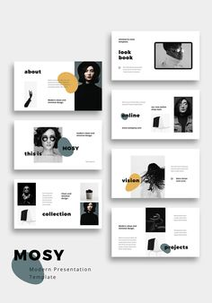 MOSY - Modern and Simple Powerpoint Presentation TemplateClean, modern and simple Powerpoint Template. This clean and creative layout gives you many Ppt Design, Design Brochure, Design Poster, Slide Design, Book Design, Portfolio Design Layouts, Page Layout Design, Design Portfolios, Presentation Design Template