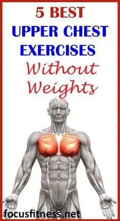 5 best upper chest exercises without weight If you want to build upper chest muscles and do it without using weights, this article will show you the best upper chest exercises you can do at home. Killer Ab Workouts, 6 Pack Abs Workout, Effective Ab Workouts, Weight Training Workouts, Toning Workouts, Fun Workouts, At Home Workouts, Summer Workouts, Push Up Workout