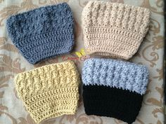 Crochet by Dugan's Girls {Ripple Stitch Boot Cuffs}