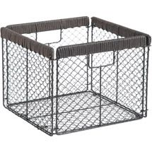 $12 (L x W x H):9.0 x 10.5 x 10.0 Walmart: Better Homes and Gardens Chicken Wire Collapsible Bin, Black