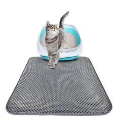 Waterproof Pet Cat Litter Mat EVA Double Layer Cat Litter Trapping Pet Litter Cat Mat Clean Pad Products For Cats Accessories Cat Litter Mat, Cat Mat, Litter Box, Puppy Pads, Pet Puppy, Pet Grooming, Cheap Cat Beds, Cat Cushion, Cat Accessories