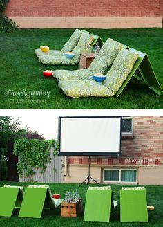 backyard theater Outdoor Movie Theater Seats