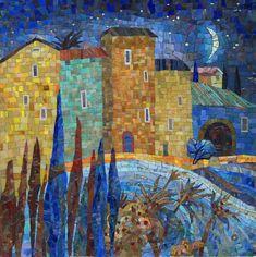 картина из мозаики Кастильская лунная ночь