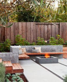 Modern backyard deck design ideas backyard patio ideas modern modern outdoor patio designs that will blow Small Backyard Gardens, Modern Backyard, Small Backyard Landscaping, Landscaping Ideas, Terraced Backyard, Small Patio, Garden Modern, Backyard Pools, Small Yards