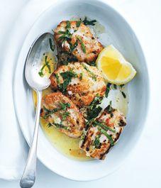 Donna Hay's garlic chicken recipe - Style At Home Garlic Chicken Recipes, Meat Recipes, Dinner Recipes, Cooking Recipes, Healthy Recipes, Zoodle Recipes, Chicken Meals, Lemon Chicken, Quick Recipes
