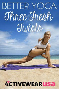 Better Yoga: Three Fresh Twists Pernas Sexy, Stretch Routine, Beach Yoga, Best Cardio Workout, Beautiful Yoga, Yoga Meditation, How To Do Yoga, Yoga Fitness, Fitness Exercises