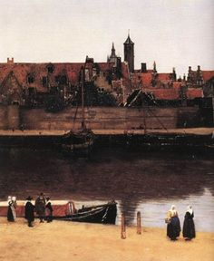 View of Delft [detail: 2] by Johannes Vermeer #art