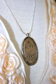 """""""Pure Of Heart"""" Pendant by Dimples and Dragonflies. This Item Has Sold! Thank You!"""
