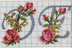 Ateliê sonho encantado.: Monograma com rosas 1 parte!!