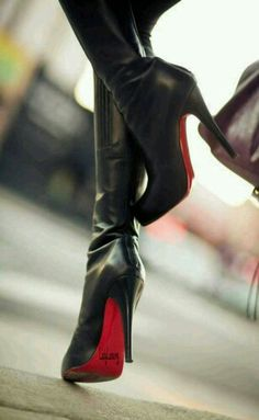 christian louboutin leather bandita knee-high boots